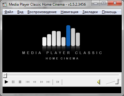Media Player Classic - Home Cinema главный экран