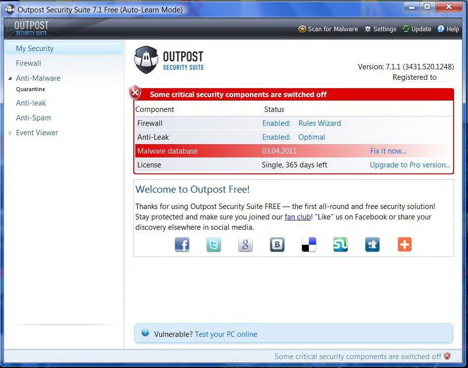 free антивирус под windows: